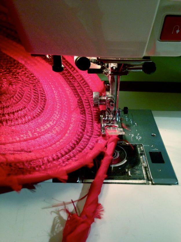 sewing red basket