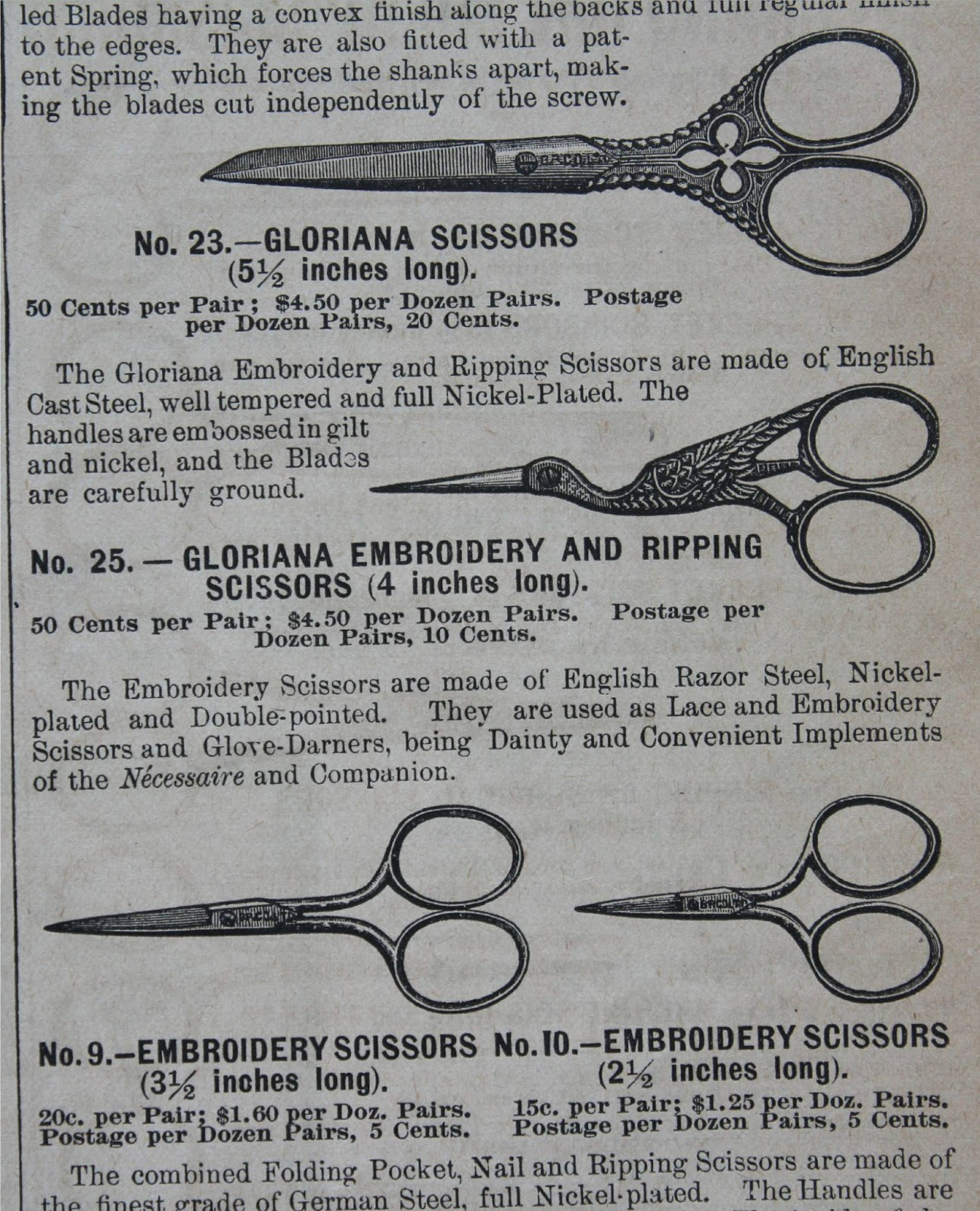 An advertisement from an old magazine from the late 1800's.